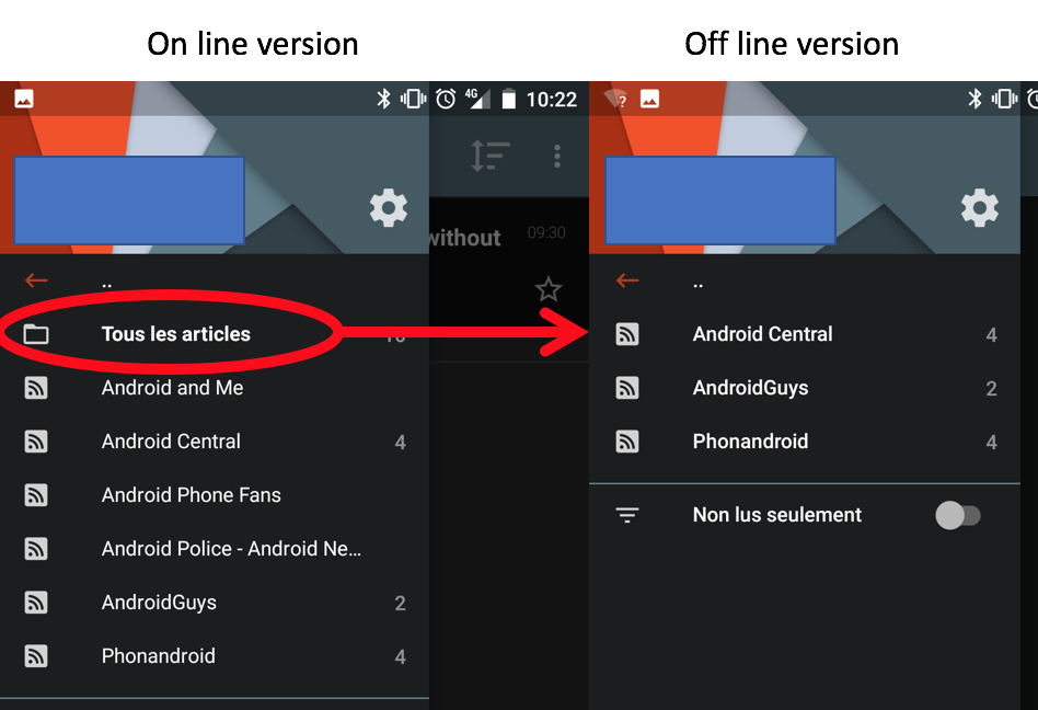 New features in Android app: evolution of mark all read